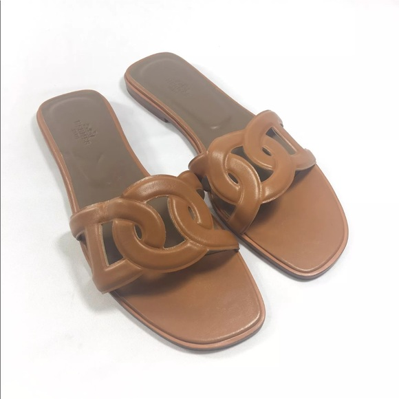 c2a6facda7e Hermes Shoes - Hermes Omaha Sandals Naturel Size 10